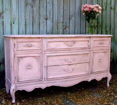 Reminds me of my once pink dresser when I had Shabby Chic decor! Why can't I have two homes since I'm still torn for my love of pinks! Shabby Chic Dresser, Decor, Pink Dresser, Furniture, Chic Furniture, Distressed Furniture, Shabby Chic Decor, Redo Furniture, Home Decor