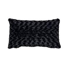 Maison d'Or Cushion Silky Bobble Black 30cm x 50cm