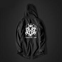 One Piece Trafalgar Law Long hoodie Black Men Hooded Sweatshirt Long Hoodie, Black Hoodie, One Piece Hoodie, Long Black Sweater, Trafalgar Law, Long Sweaters, Sleeve Styles, Black Men, Hooded Sweatshirts
