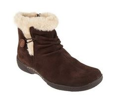 Bare Trap Water Resistant Faux Fur Boots with Button Detail --- Regular price - $75.00.... sale price - $37.00! ~  They are SOOOOO comfortable!!! Mine are a lighter brown, tho.