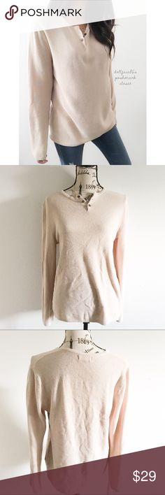 """Zara Man Light Textured Knit Henley Top ✦   ✦{I am not a professional photographer, actual color of item may vary ➾slightly from pics}  ❥chest:20"""" ❥waist:20"""" ❥length:26"""" ❥sleeves:24.5"""" ➳material/care:tag has been cut ➳fit:I'm not an expert on men's sizing, but it doesn't seem like a men's lrg maybe a very fitted one ➳condition:gently used  ✦20% off bundles of 3/more items ✦No Trades  ✦NO HOLDS ✦No lowball offers/sales are final  ✦‼️BE A RESPONSIBLE BUYER PLS ASK QUESTIONS/USE MEASUREMENTS…"""