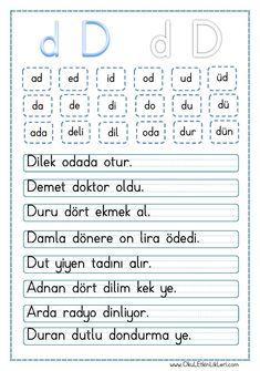 Pin by Nuran Türközü on Eğitim Family Recipe Book, Learn Turkish, Turkish Language, Primary School, Learn English, Activities For Kids, Diy And Crafts, Homeschool, Learning