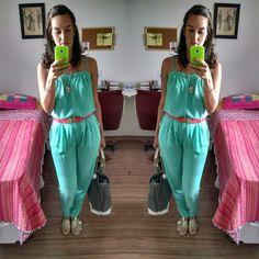 Andrea G. - Green Overalls