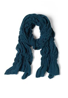 Ruche to Your Side Scarf in Deep Blue, #ModCloth
