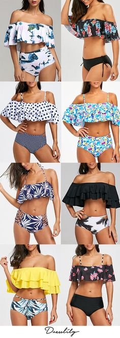 Buy New Swimwear,Shop the Latest Womens Bathing Suits, Swimsuits, & Bikinis Summer Bathing Suits, Cute Bathing Suits, Women Bathing Suits, Swim Suits Bikinis, Bikini Swimwear, Romwe Swimwear, Bikini 2018, Retro Swimwear, Mode Outfits