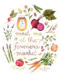 Buy veggies at a Farmers Market.