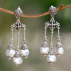 Borobudur Cultured Pearl Earrings - National Geographic Store