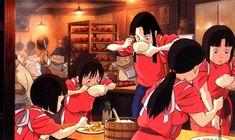 Spirited away. Chihiro and Rin Studio Ghibli Characters, Studio Ghibli Movies, Howl's Moving Castle, Hayao Miyazaki, Totoro, Chihiro Y Haku, Japanese Animated Movies, Film Studio, Spirited Away