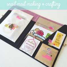 Nadia van der Mescht: Stationery and Packages Pen Pal Letters, Pocket Letters, Writing Letters, Envelope Lettering, Envelope Art, Snail Mail Flipbook, Snail Mail Pen Pals, Snail Mail Gifts, Baby Photo Books