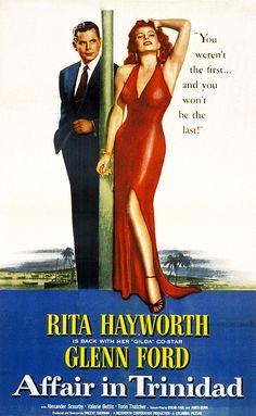 AFFAIR IN TRINIDAD, Poster Art, Glenn Ford, Rita Hayworth, 1952