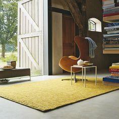 Brink en Campman Karpet Brink en Campman Pinto 29608 - 140 x 200 cm - Vloerkleed Mustard Rug, Cosy Corner, Interiors Online, Interior Decorating, Interior Design, Simple Interior, Blue Rooms, Modern Rugs, Rugs On Carpet
