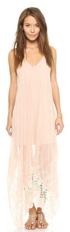 5390fd154f6 ALICE + OLIVIA blush maxi dress found at Nudevotion.com