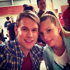 Chord Overstreet and Heather Morris Glee