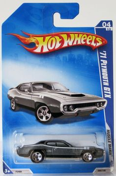 2009 Hot Wheels Muscle Mania # 080 71 Plymouth GTX Grey 04/10