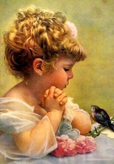 little girls with birds - Google Search