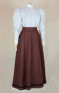 Edwardian Skirt Fan-Skirt worn about 1890 Sewing Pattern image 3 1890s Fashion, Edwardian Fashion, Vintage Fashion, Fashion Goth, Vintage Beauty, Umbrella Skirt, Vintage Dresses, Vintage Outfits, Edwardian Dress
