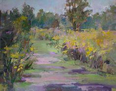 Original peinture à l'huile paysage Prairie Husted par ArtEssence