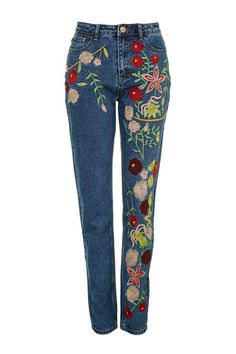 **Embroidered Jeans by Glamorous