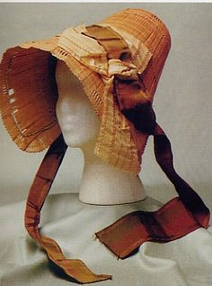 Straw Bonnet with Wide Ribbon, c. 1810.