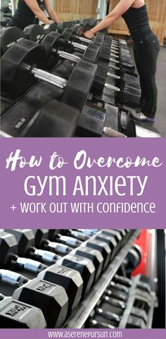 How to overcome gym anxiety + work out with confidence || Does going to the gym intimate you? Are you scared of going to the gym alone? These are my tips to help you overcome gym anxiety and work out with confidence. With this workout motivation, you'll be ready to own your workouts. Click through for all the tips!