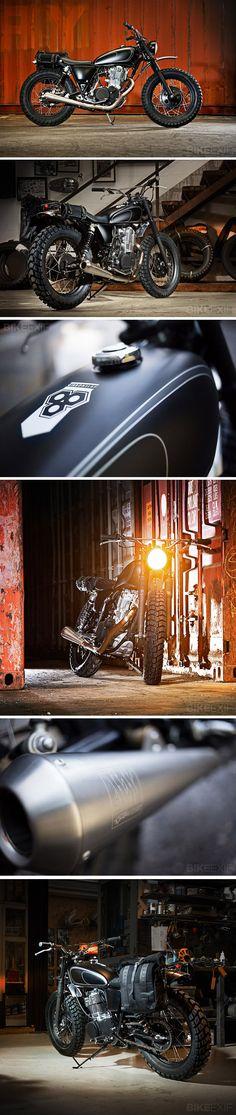 Yamaha SR400 - Wrenchmonkeys. Seen on http://www.bikeexif.com/yamaha-sr400-wrenchmonkees #caferacer #bratstyle #motorcycles #motos #bobber