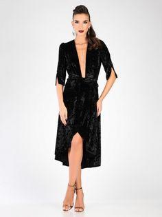 ccdd63ac8f08 Ženska Elegantna Obleka CARLA BY ROZARANCIO  dress  plush dress   decolletage  long sleeve  party