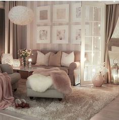 Home Decor Ideas Plants Love the striped walls.Home Decor Ideas Plants Love the striped walls Cozy Living Rooms, Living Room Grey, Home Living Room, Apartment Living, Interior Design Living Room, Living Room Designs, Living Room Decor, Bedroom Decor, Bedroom Themes