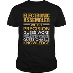 ELECTRONIC ASSEMBLER T Shirts, Hoodies. Get it now ==► https://www.sunfrog.com/LifeStyle/ELECTRONIC-ASSEMBLER-123375317-Black-Guys.html?41382 $22.99