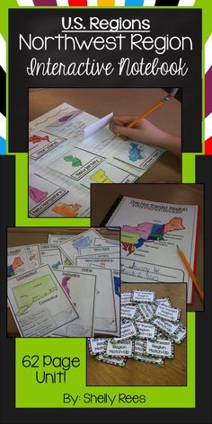 northeast region us regions interactive notebook resource unit includes fun foldables map