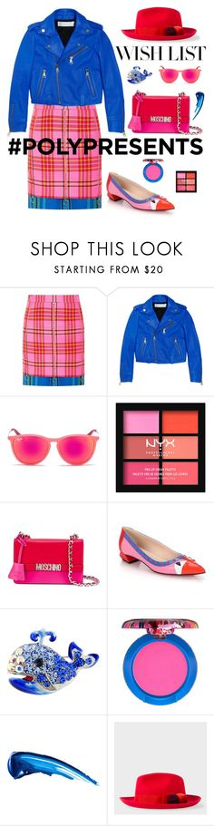 """""""#PolyPresents: Wish List"""" by neverboring ❤ liked on Polyvore featuring House of Holland, Victoria, Victoria Beckham, Ray-Ban, Moschino, Fendi, MAC Cosmetics, Anastasia Beverly Hills, PS Paul Smith, contestentry and polyPresents"""