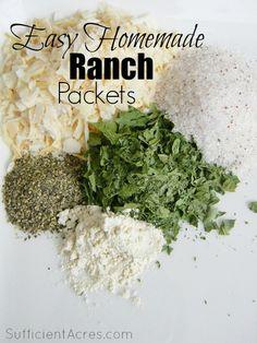 Easy Homemade Ranch Seasoning Packets