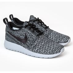 Nike Womens Roshe Run Flyknit ($115) ❤ liked on Polyvore featuring shoes, athletic shoes, nike athletic shoes, stretchy shoes, evening shoes, stretch shoes and holiday shoes