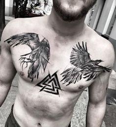 Viking Tattoos Ideas - Scandinavian tattoo ideas for men and women . - Viking Tattoos Ideas – Scandinavian tattoo ideas for men and women – tattoo – - Tattoos Bein, Body Art Tattoos, Tattoos For Guys, Tattoos For Women, Norse Mythology Tattoo, Norse Tattoo, Armor Tattoo, Tattoo Sleeve Designs, Tattoo Designs Men