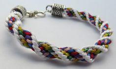 Ridged spiral kumihimo bracelet.