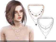 -5 colours  Found in TSR Category 'Sims 4 Female Necklaces'