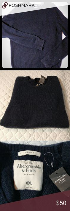 Navy Abercrombie sweater XXL Very very soft and simple design A&F sweater.  No issues. Abercrombie & Fitch Sweaters Crewneck