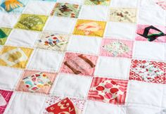 I Spy Economy Block Scrappy Quilt // Michael Ann Made