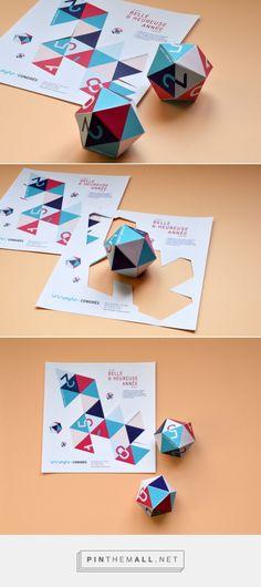 Le Triangle Congrès - © Pollen Studio  Carte de vœux 2015 / découpage / forme / DIY / belle année / géométrie