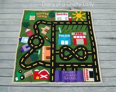 Diary of a Crafty Lady: Felt Toy Car Mat