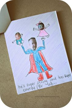 Father's Day Gift - Funny Photo Super Hero Book www.macdonaldsplayland.com #fathersday #fathersdaycraft
