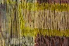 Lineal (detail) - Ink-Jet and Collograph Printed Fabrics, Pleated & Stitched
