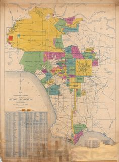 Map of the Territory Annexed to the City of Los Angeles, California   John C. Shaw, Corrected to 1961