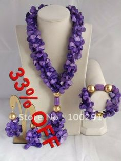Handmake Coral Jewelry Set Coral Necklace Bracelet Earring Set For African Wedding $59.47
