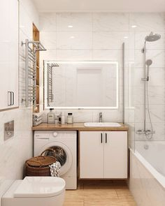 Relaxing Bathroom, Laundry Room Bathroom, Tiny House Bathroom, Small Bathroom, Best Bathroom Designs, Bathroom Design Luxury, Home Interior Design, Toilet Room Decor, Bathroom Wall Decor