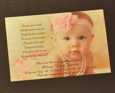 Adoption Announcements for Girl, with Poem 25, by foxcreationsonline, $46.25.
