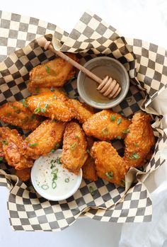 Fried Hot Honey Chicken Wings are crispy, spicy, sweat and so savory delicious. Perfect game day food! #superbowl #tailgatefood #wings