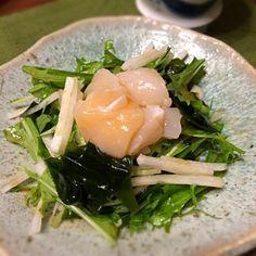 山葵ドレッシングでさっぱりと - 38件のもぐもぐ - 帆立と水菜・大根・わかめのサラダ by norikoniwakP3
