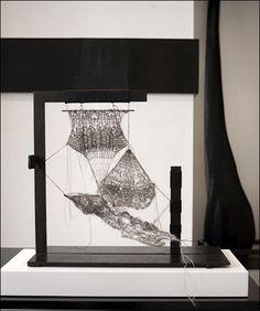 'Minscrims,' Steel thread knitted sculptures by Michelle Litvin