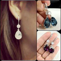 Bridal Earrings Teardrop Crystal Swarovski by BeYourselfJewelry, $34.99