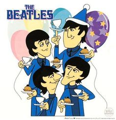 Beatles Limited edition Sericel Tea and Crumpets by Classylines Beatles Party, The White Album, John Lennon Beatles, The Beatles, Beatles Poster, Beatles Photos, Tea And Crumpets, Animation Cel, Morning Cartoon